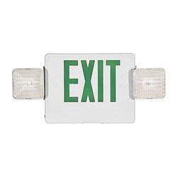 Exit Emergency Combo Sign Green