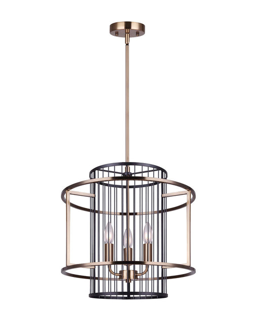 Canarm ICH743B03BKG17 Trixy Black and Gold Entry Chandelier