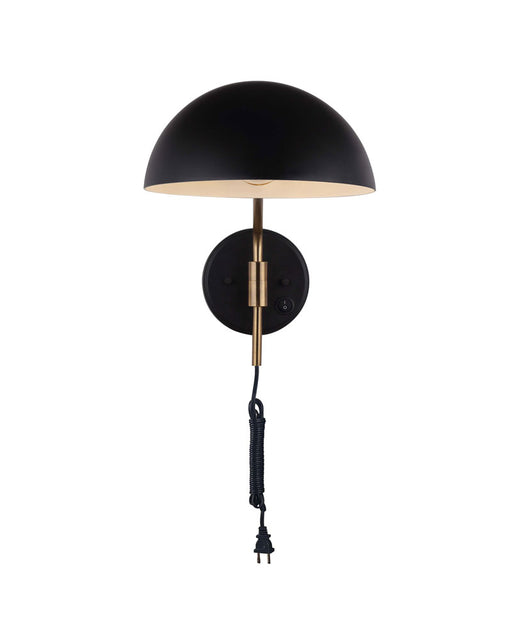 Canarm IWF1054A01BKG Hinton Matte Black and Gold Adjustable Wall Sconce
