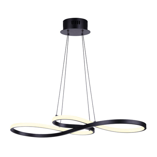 Canarm LCH213A29BK Ola Abstract LED Chandelier in Black