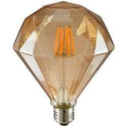 led Candelabra Bulb Sunlite 80459-SU 6W LED E26 Medium Base Vintage Diamond Light Bulb 2200K LightStore