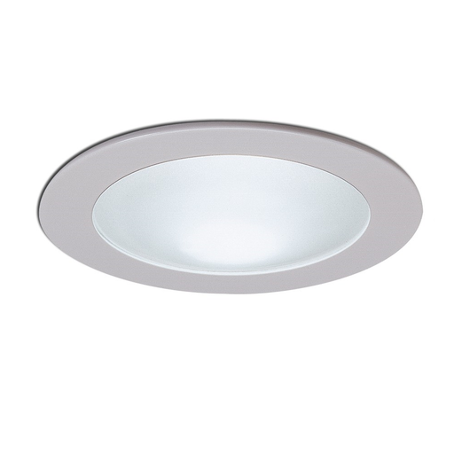 "Nora Lighting NS-25W 4"" White Shower Trim with Frosted Dome Lens"