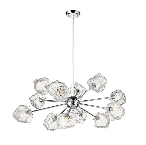 Canarm P0488-12CH Rockport 12 Light Glass Cube Chandelier
