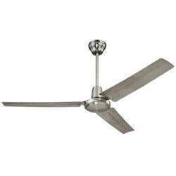 "Westinghouse 56"" Industrial Ceiling Fan Brushed Nickel Ball Hanger Mount"