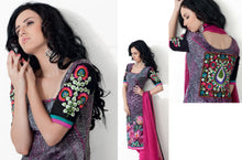 Load image into Gallery viewer, Gray Pink Pashmina Embroidered Dress Material PHM6 - Ethnic's By Anvi Creations