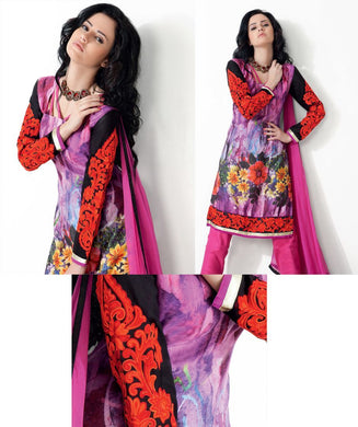 Purplish Pink Pashmina Embroidered Dress Material PHM10A - Ethnic's By Anvi Creations