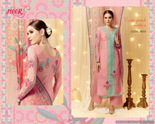 Charger l'image dans la galerie, Heer Peach Satin Cotton Embroidered Dress Material SC5802 - Ethnic's By Anvi Creations