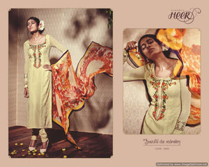 Heer Cream Pure Georgette Embroidered Dress Material SC5905 - Ethnic's By Anvi Creations