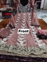 Load image into Gallery viewer, Designer Net Semi Stitched English Pink Anarkali Dress Material SC2007 - Ethnic's By Anvi Creations
