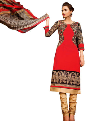 Lawn Cotton Embellished Dress Material with Chiffon Dupatta 9021 - Ethnic's By Anvi Creations