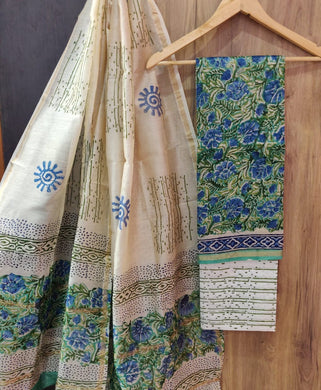 Exclusive Blue Chanderi Silk Salwar Kameez Dress Material AACH04