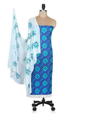 Designer Screen Printed Cotton Shalwar Kameez Dress Material ABP68 - Ethnic's By Anvi Creations