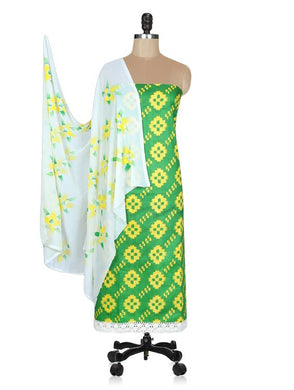 Designer Screen Printed Cotton Shalwar Kameez Dress Material ABP69 - Ethnic's By Anvi Creations