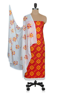 Designer Screen Printed Cotton Shalwar Kameez Dress Material ABP70 - Ethnic's By Anvi Creations