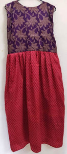 Designer Girl's Maroon Long Full stitched Gown Mother Daughter Collection ACG03 Size 12-13 Year