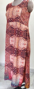 Designer Raw Cotton Silk Digital Printed Long Maxi Dress Free Size ACG05