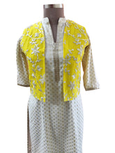 Load image into Gallery viewer, Yellow Gotta Embroidered Ethnic Jacket Shrug ACJ07 - Ethnic's By Anvi Creations