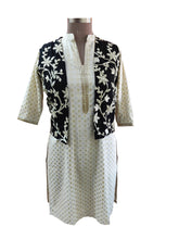 Load image into Gallery viewer, Black Gotta Embroidered Ethnic Jacket Shrug ACJ12 - Ethnic's By Anvi Creations