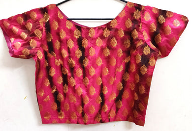 Designer Pink Shaded Ready to Wear Long Blouse Crop Top ACP15 - Ethnic's By Anvi Creations