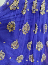 Load image into Gallery viewer, Designer Heavy Embroidered Royal Blue Ready To Wear Lehenga Skirt Only ALC27