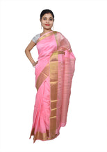 Load image into Gallery viewer, Designer Zari Border Pink Bangalore Silk Saree BGS05