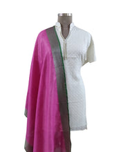 Load image into Gallery viewer, Handloom Linen Purple Solid Dupatta BLD11