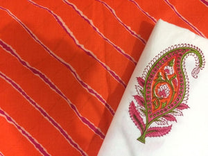 Exclusive Block Printed Kurta Palazo Pant Mughal Butta Fabric Only BP28