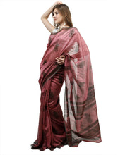 Load image into Gallery viewer, Onion Pink Dupion Printed Cotton Silk saree