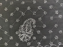 Load image into Gallery viewer, Black Hand Embroidered Chikankari Lakhnavi Cotton Saree CK04 - Ethnic's By Anvi Creations