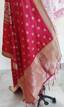Load image into Gallery viewer, Designer Maroonish Red Dupion Silk Zari Weaven Banarasi Dupatta DP20 - Ethnic's By Anvi Creations