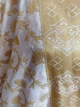 Load image into Gallery viewer, Designer White Dupion Silk Weaven Banarasi Dupatta DP26 - Ethnic's By Anvi Creations