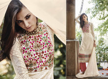 Load image into Gallery viewer, Elan Pakistani Replica Beige Georgette Embroidered Dress Material SC3304 - Ethnic's By Anvi Creations