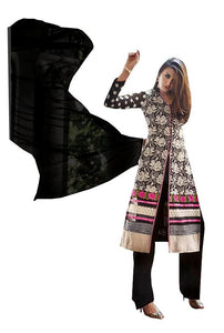Elan Pakistani Replica Black Georgette Embroidered Dress Material SC3306 - Ethnic's By Anvi Creations