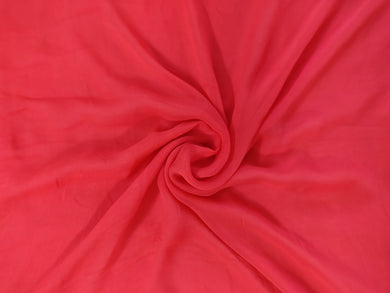 Georgette Gold Border Red Fabric Pre Cut 1.25 Meter FAB80