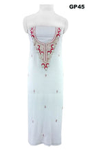 Load image into Gallery viewer, Jaipuri Kundan Hand Work Off White Georgette Kurti Kurta Fabric GP45