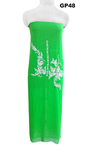 Jaipuri Pearl Hand Work Green Georgette Kurti Kurta Fabric GP48
