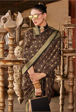 Load image into Gallery viewer, Designer Brown Dupion Silk Weaven Saree GEM4024 - Ethnic's By Anvi Creations