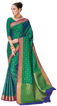 Load image into Gallery viewer, Designer Green Dupion Silk Weaven Saree GEM4029 - Ethnic's By Anvi Creations