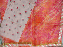 Load image into Gallery viewer, Designer Orange Zari Weaven Kota Shibori Saree KCS121