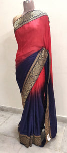 Designer Bollywood Indian Maroon Embroidered Jacquard butta saree SC30011B