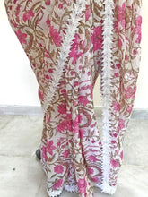 Load image into Gallery viewer, Lacer Printed White Pink Georgette Saree SC897