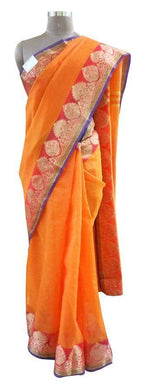 Designer Banaras border Kota Cotton saree KBS39 - Ethnic's By Anvi Creations
