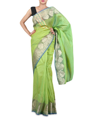 Designer Banaras border Kota Cotton saree KBS40 - Ethnic's By Anvi Creations
