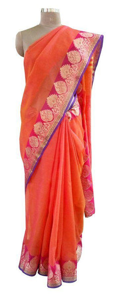 Designer Banaras border Kota Cotton saree KBS41
