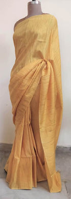 Exclusive Yellow Katan Ghicha Saree with Pure Ikkat Silk Blouse KG01