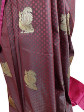 Load image into Gallery viewer, Maroon Kanchi Blend Kanjivaram Silk Saree Kanchi02 - Ethnic's By Anvi Creations