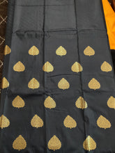 Load image into Gallery viewer, Yellow Black Kanchi Blend Kanjivaram Silk Saree Kanchi11 - Ethnic's By Anvi Creations
