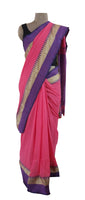 Exclusive Festival Temple Border Pink Cotton Saree