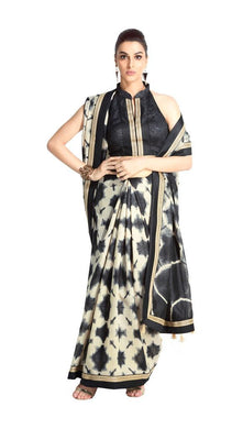 Designer Black Handloom Silk Light Embellished Saree SCMIS03 - Ethnic's By Anvi Creations