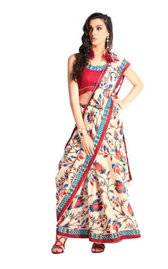 Designer Multi Handloom Silk Light Embellished Saree SCMIS11 - Ethnic's By Anvi Creations